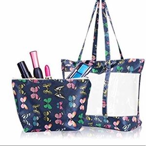 New clear butterfly tote